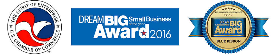 US Chamber of Commerce DREAM BIG Blue Ribbon Award