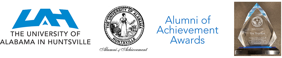 University of Alabama in Huntsville (UAH) Alumni of Achievement Award