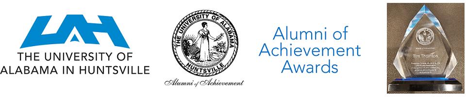 University of Alabama in Huntsville (UAH) Alumni of Achievement Award